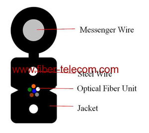 FTTH Drop Cable 6cores Fig.8 with 0.4mm Steel Wire Strength member