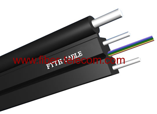GJYXFCH-6B6 FTTH Drop Cable 6 Fiber Fig.8 with 0.5mm FRP Strength Member