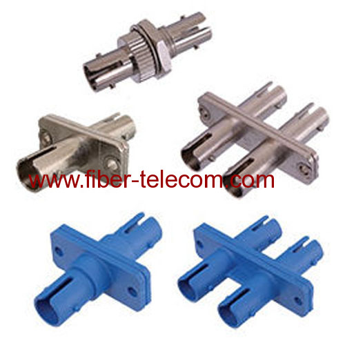 ST simplex fiber optic adaptor metal housing