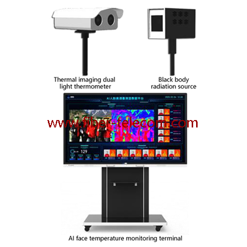 Intelligent multi person thermal imaging detecting camera