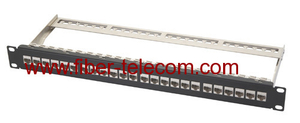 CAT.6a FTP Patch Panel 1U 24 ports with RJ45 keystone jack