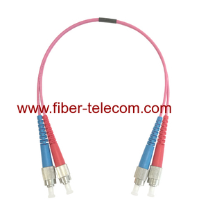 FC to FC MM OM4 Duplex Fiber Optical Patch Cord