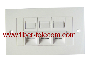 3-port UK type Flat Faceplate
