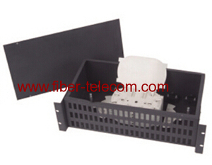 "19"" rack mounted fiber optic indoor terminal box 2U"
