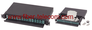 "19"" drawer type fiber optic patch panel with removable adapter panels"