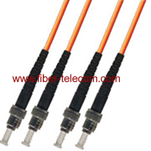 ST-ST Multi Mode Duplex Fiber Optic Patch Cord
