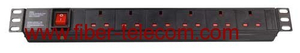 "19"" UK Type PDU Socket 6 Ways with Power Cable"