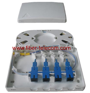 Wall mounted plastic indoor fiber terminal box 4 cores