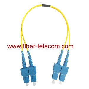 SC to SC Single Mode Duplex Fiber Optical Patch Lead