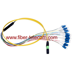 MPO-LC Single Mode Fan-out Fiber Optic Pigtail